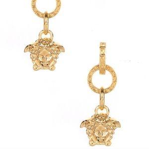 Versace Gold Medusa Head Drop Earrings